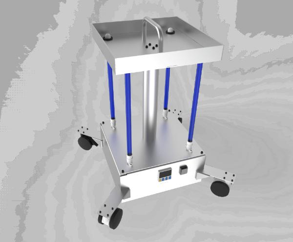 Sistem mobil UV pentru dezinfectare si sanitizare aer si suprafete (inclusiv COVID-19)